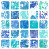 Grunge background with squares stock illustration