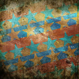 Grunge background with stars. Colorful grunge background with stars Stock Photos