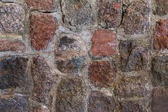 Grunge background stone wall old building, texture pattern city. Square Royalty Free Stock Images