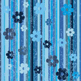 Grunge  background with stripes and flowers Royalty Free Stock Photos