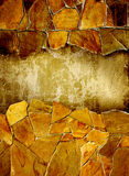 Grunge background with stucco wall and stone Stock Image