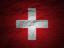 Grunge background Switzerland flag Stock Photography
