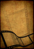 Grunge background - symbolical image of a film Royalty Free Stock Image