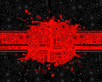 Grunge background with symbols. Abstract grunge style illustration with symbols Royalty Free Stock Photography