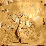 Grunge background with tree Stock Photo