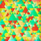 Grunge background with triangular pattern Royalty Free Stock Photography