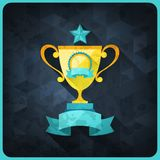 Grunge background with trophies and awards Royalty Free Stock Photo