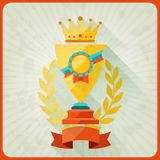 Grunge background with trophies and awards Royalty Free Stock Photos
