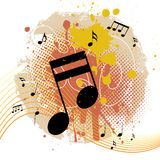 Grunge background with tunes. Vector Royalty Free Stock Photos
