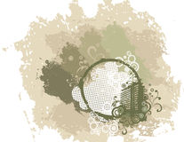 Grunge background with urban elements Stock Photos