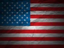 Grunge background USA flag. USA flag on a grunge paper background Royalty Free Stock Photos
