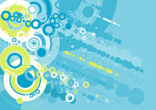 Grunge background,vector. Grunge background with many different blue and green circles Royalty Free Stock Photography