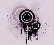 Grunge background - vector. Grunge background with circles - vector Royalty Free Stock Photography