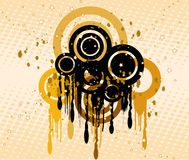 Grunge background - vector. Grunge background with circles - vector Royalty Free Stock Image