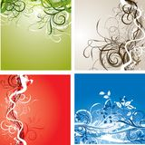 Grunge background, vector Stock Photos