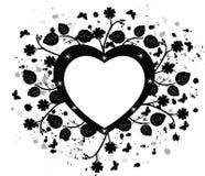 Grunge background - vector illustration. Grunge floral background - vector illustration stock illustration