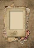 Grunge background with vintage photo-frame Stock Photos