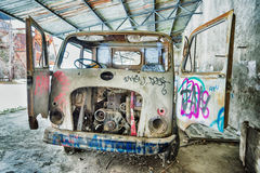 Grunge background, vintage truck Royalty Free Stock Photo