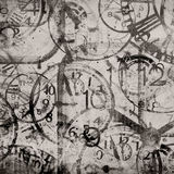 Grunge background . Watches. Time royalty free illustration