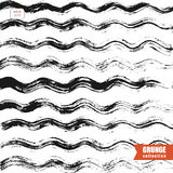 Grunge background with wavy lines. Abstarct grunge background with messy wavy lines, black and white vector background Stock Images