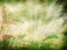 Grunge Background With Rays Stock Images