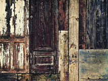 Grunge background with wooden scrap materials Royalty Free Stock Photography
