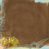 Grunge Background Worn Look Chocolate Brown and Angel Bohemian Art Deco. Grunge background paper 300 dpi 12x12 with vintage images chocolate and aqua blue Royalty Free Illustration