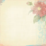 Grunge Background Worn Look Ivory Light Flowers Bohemian Art Deco. Grunge background paper 300 dpi 12x12 With flowers and texture Royalty Free Illustration