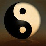 Grunge background. Yin Yang Symbol with abstract grunge background,yin yang symbol Royalty Free Stock Photos