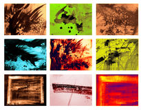 Grunge backgrounds. Grunge background set for text Stock Photography