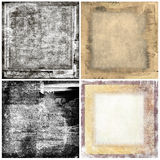 Grunge backgrounds. Collection of four grunge background Stock Images