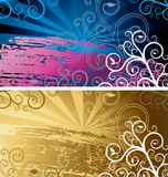 Grunge backgrounds. Two vector abstract grunge backgrounds Vector Illustration