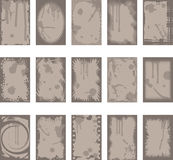 Grunge backgrounds and borders. Various grunge style backgrounds and frames / borders Stock Photography