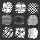 Grunge backgrounds - bricks, tire tracks and Stock Images