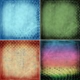Grunge backgrounds with circles Royalty Free Stock Images