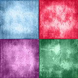 Grunge backgrounds. Collage of four colorful vintage, grunge backgrounds Royalty Free Stock Images