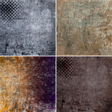 Grunge backgrounds. Set of grunge backgrounds, illustration stock illustration