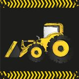 Grunge backhoe Royalty Free Stock Photography