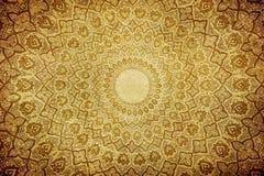 Grunge bakgrund med orientaliska prydnadar Royaltyfri Bild