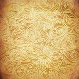 Grunge bakgrund med orientaliska prydnadar Royaltyfria Foton