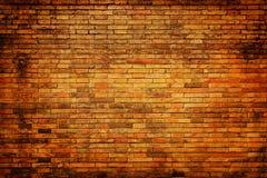 Grunge, bakstenen muur Stock Afbeelding