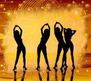 Grunge, ballare delle donne illustrazione di stock