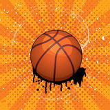 grunge balowy koszykowy wektor Fotografia Royalty Free