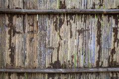 Grunge bamboo fence Royalty Free Stock Photo