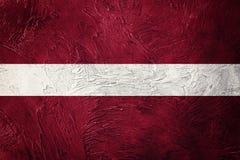 grunge bandery Łotwa Latvia flaga z grunge teksturą Zdjęcie Royalty Free