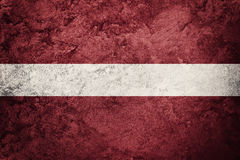 grunge bandery Łotwa Latvia flaga z grunge teksturą Fotografia Royalty Free