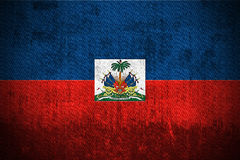 grunge bandery Haiti Obraz Royalty Free