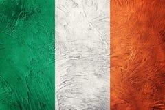 grunge bandery Ireland Irlandczyk flaga z grunge teksturą obraz royalty free