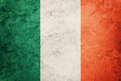 grunge bandery Ireland Irlandczyk flaga z grunge teksturą zdjęcie royalty free
