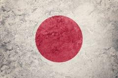 grunge bandery Japan Japonia flaga z grunge teksturą Zdjęcia Royalty Free